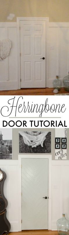 DIY Herringbone Door Tutorial