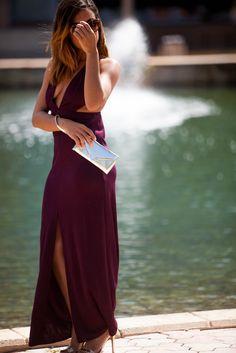 Casual Plum Dress