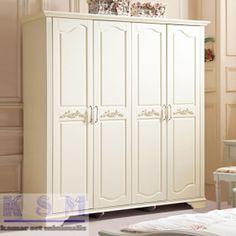 Furniture Lemari Pakaian 4 Pintu Warna Putih - Produk dari kamarsetminimalis.com ini memiliki desain minimalis memakai warna putih