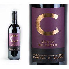 Olio e Sale_Cento su Cento_uve Negroamaro in purezza 100%_Rosso Salento_cantina _Castel di Salve
