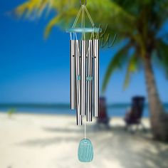 "Woodstock 24"" Beachcomber Chime Gracious Green Engravable Sail"