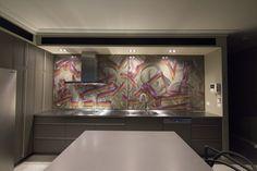 Custom Kitchen Splashback. #skream @skr3am Melbourne Australia.  #interior #splashback #kitchen #streetart