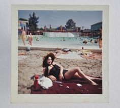 Thermos. Poolside, c. 1960. #snapshot #photography #midcentury #americana #1960s #candlerarts #summer #beach