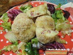 Crocchette di patate e salumi al microonde, troppo gustose ! E' facile preparare questecrocchette di patate e salumi al microonde e quanto sono buone !