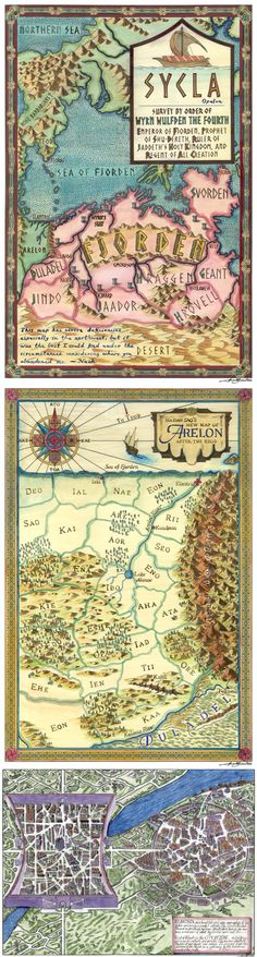 10th Anniversary Elantris maps (Sycla, Arelon, Elantris) posted online!