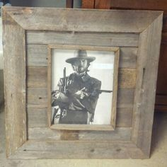 Pallet or reclaimed barn wood picture frame