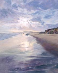 "Saatchi Art Artist Lynne Schulte; Painting, ""Evening Walk (Martha's Vineyard)""…"