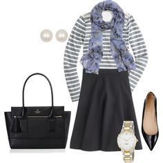February 2015 Wardrobe Outfit #11 by decidedlyd on Polyvore featuring J.Crew, Kate Spade and Dogeared