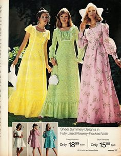 Brings back memories of the 1970's and the bridesmaid and prom dresses.