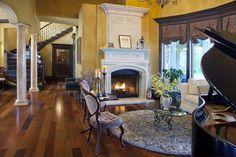 Fox Island Haven mediterranean living room