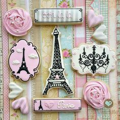 Christine Hayes: Paris theme cookie collection