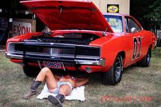 Daisy Duke on her back for The General Lee - Women's Fashion - Sexy Girls in…