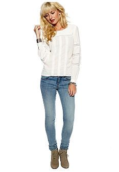 Free People Free People Voile Victorian Tunic & Skinny Denim - B