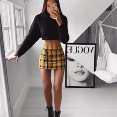 Such a pretty outfit style look and her body is goals. Click the link to BUY 🔻 Dress Outfits, Cute Skirt Outfits, Cute Skirts, Trendy Outfits, Summer Outfits, Mini Skirts, Look Fashion, Skirt Fashion, Teen Fashion