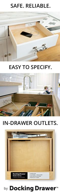 See why our products the safest, most reliable and easiest to install in-drawer outlets on the market.