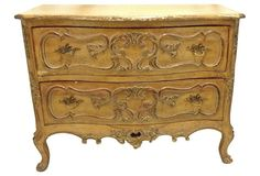 Vintage French Provençal-Style Fruitwood Chest