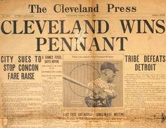 Cleveland Wins Pennant