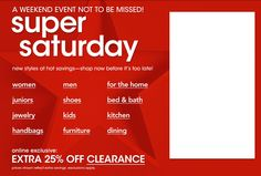 Hey there INsider.... this is a weekend event not to be missed! Super Saturday! New styles at hot savings-shop now before its too late! @Macy's Official #insider #deals