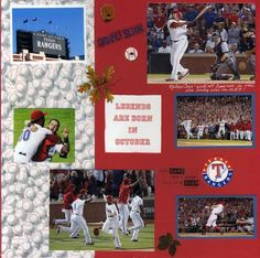 scrapbook page ideas baseball | Scrapbook page from Post Season 2011