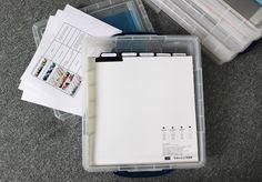 Bastelzimmer, Aufbewahrung Designerpapier 12x12