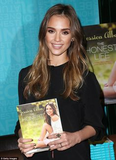 Jessica Alba went back to her dark roots to promote her book, The Honest Life