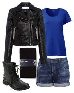 """""""Slightly tough"""" by tardisblueimpala-221b ❤ liked on Polyvore featuring Gap, Lands' End, Citizens of Humanity, IRO, Leather, Boots, jacket, tough and combatboots"""
