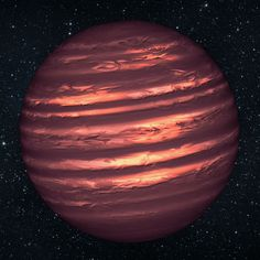 """NASA's Hubble and Spitzer space telescopes have probed the stormy atmosphere of a brown dwarf named 2MASSJ22282889-431026."" Picture: NASA/REX"