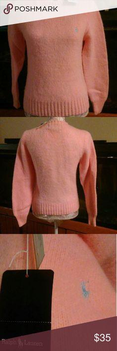 RALPH LAUREN PINK SHETLAND WOOL SWEATER NEW WITH TAG. 100% PINK SHETLAND WOOL. Ralph Lauren Sweaters
