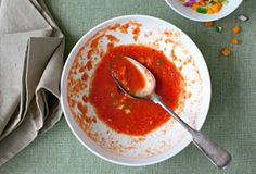 Spanish Gazpacho from Leite's Culinaria Summer Recipes, Great Recipes, Soup Recipes, Vegetarian Recipes, Favorite Recipes, Gazpacho Recipe, Gazpacho Soup, Eat Your Books, Happy Foods