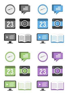 Flat Design: Icons + Branding by East Valiant , via Behance