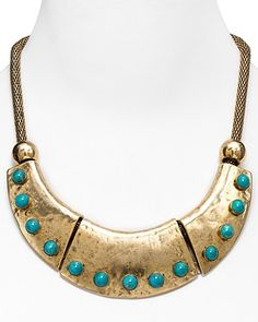 RJ Graziano Disc with Stones Necklace, 18"