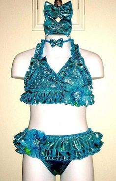 deb099fd5fbac Swimwear 004-Jordan Grace Princesswear Custom Pageant Swimwear. All items  are made to order