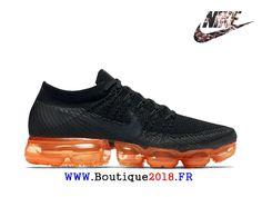 quality design 5b433 9c301 Nike Air VaporMax Flyknit Chaussures 2018 Pas Cher Pour Homme Noir Orange  AH8449-001-