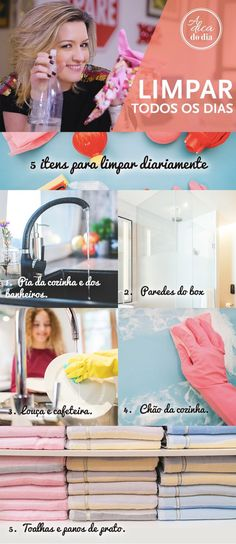 Mantenha a limpeza em dia: Cinco itens para manter limpos em casa Flylady, Finding Peace, Home Organization, Life Hacks, Sweet Home, Cleaning, Diy, House, Organize