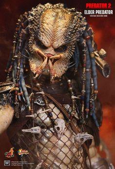 Hot Toys Predators 2 Elder Predator Masterpiece Action Figure for sale online Predator Movie, Predator Alien, Predator Figure, All Mythical Creatures, Alien Creatures, Predator Costume, Xenomorph, Pintura, Warriors