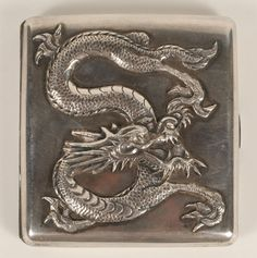 Chinese Export Silver Dragon Cigarette Case