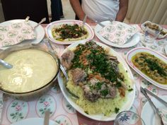 Mansif, Jordanian national dish: lamb, rice, and cooked yogurt.