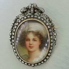 This is a beautiful 1850s Antique Victorian French Solid Gold Diamond Miniature Portrait Brooch Pin. It will come proffesionally packaged and unconditional 30 day money back return policy. Gender Wome