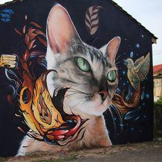 El viaje de Rayuela. Buenos Aires 2016. Feat @fio.silva & @jiantjiant  #mantrarea #fiosilva #jiant #buenosaires #mural