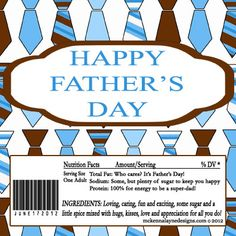 Fathers Day Hershey Candy Bar Wrappers Small Neckties