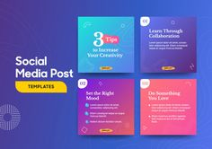 Social media post template with a cool topography design element and trendy gradient colors , Social Media Banner, Social Media Template, Social Media Design, Graphic Design Lessons, Sports Graphic Design, Youtube Banner Design, Web Banner Design, Instagram Design, Quote Design