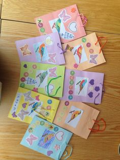 Decorative gift bags made with the residents at Sycamore House, 7.5.15