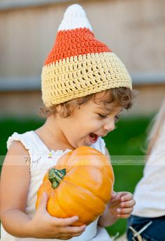 Candy Corn Hat (with and without chin strap) 5 sizes included (halloween / thanksgiving / fall / winter / photo prop)