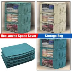 Non-woven Space Saver Clothes Quilt Blanket Storage Bag Box Organizer Portable is personalized, see other cheap storage bags on NewChic. Bra Storage, Quilt Storage, Blanket Storage, Velvet Bedding Sets, Organize Fabric, Bag Organization, Organizing, Quilt Cover, Portable