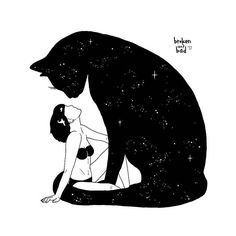 #Cat International Cat Day, #Illustration #Pinterest Black and white, #Black Art, Instagram - Photo by @blackworknow - Follow #extremegentleman for more pics like this!