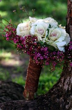 Unusual ornamental kale bouquet via  the little branch #ornamentalkale #bouquet #wedding