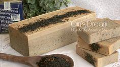 #Jabónatural de té verde con aceite esencial de árbol de té.