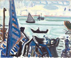 Max Gubler (Swiss 1898-1973) Venedig Venice oil on canvas 50 x 61 cm