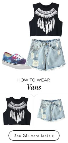 """Untitled #290"" by amal-stylesmalik on Polyvore featuring Vans, Chicnova Fashion and WithChic"