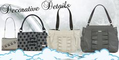 Decorative Details Carry these lovely Shells on your shoulder this season to add fancy details to your outfit. These Greys, Creams and Blacks will work with the coming winter season.   Petite -Cindy (MB5129), Classic - Sherry (MB1188), Demi - Sharon (MB3103), Prima - Donna (MB7562) *Miche Canada* #michecanada #michefashion #fashion #style #purses #handbags #accessories